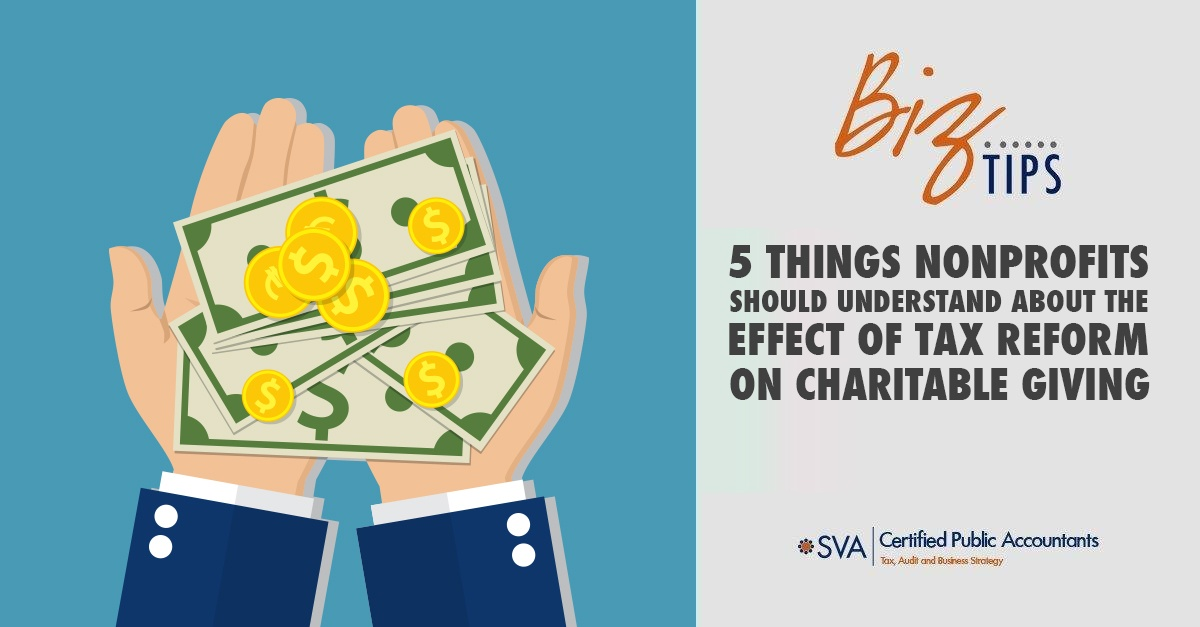 5 Things Nonprofits Should Understand About the Effect of Tax Reform on Charitable Giving