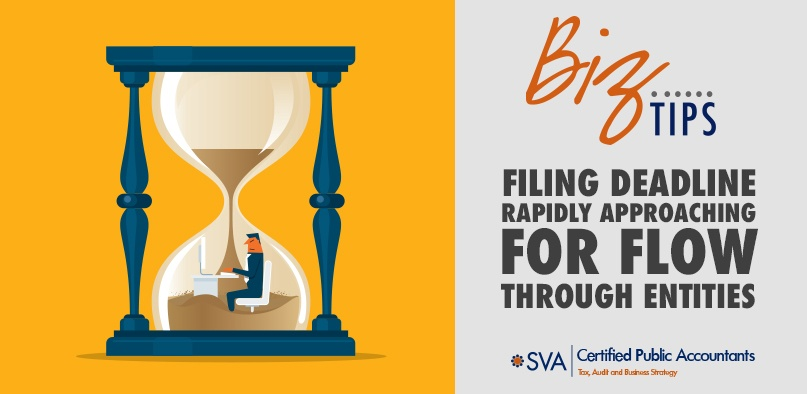 Filing Deadline Rapidly Approaching for Flow-Through Entities
