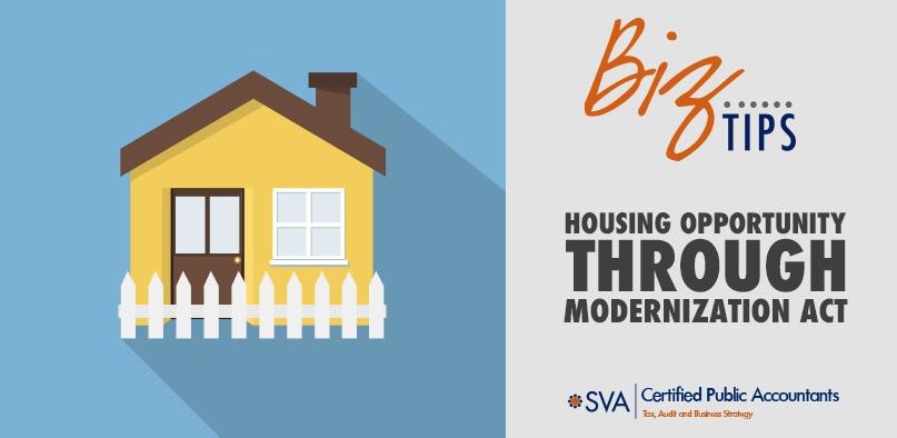 Housing Opportunity Through Modernization Act (HOTMA)