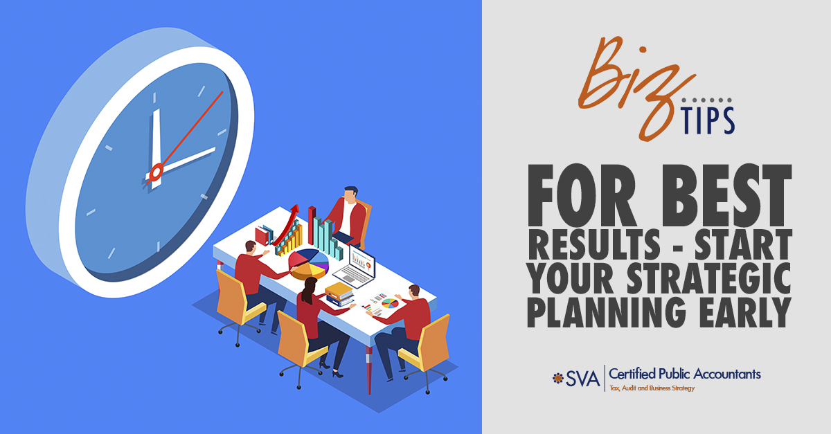 For Best Results - Start Your Strategic Planning Early