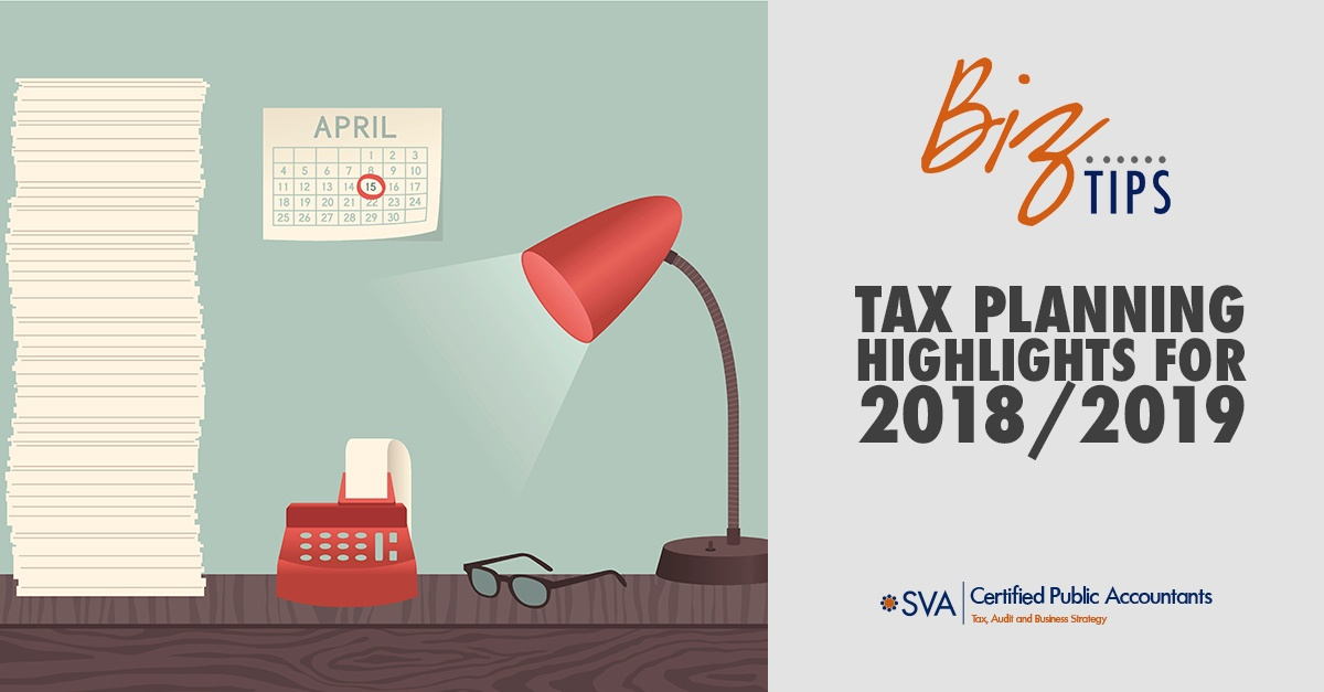 Tax Planning Highlights for 2018/2019