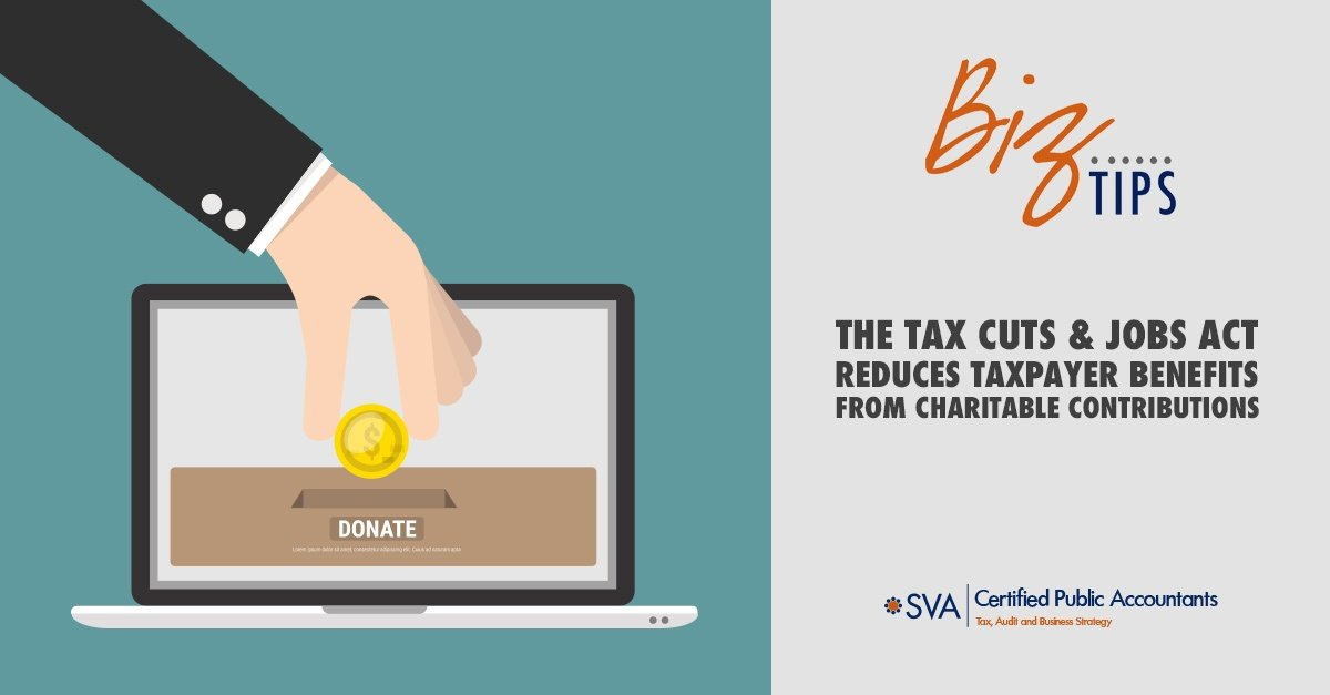 The Tax Cuts and Jobs Act Reduces Taxpayer Benefits from Charitable Contributions