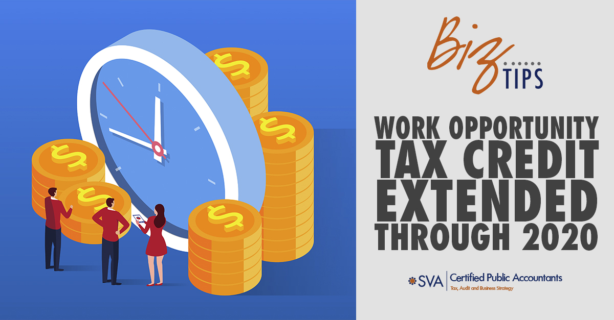 Work Opportunity Tax Credit Extended Through 2020